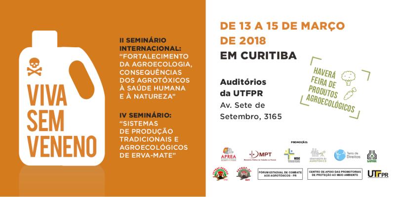 Seminário internacional contra os agrotóxicos acontece em Curitiba!