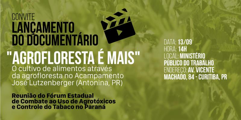 Documentário Agrofloresta é Mais será lançado em Curitiba